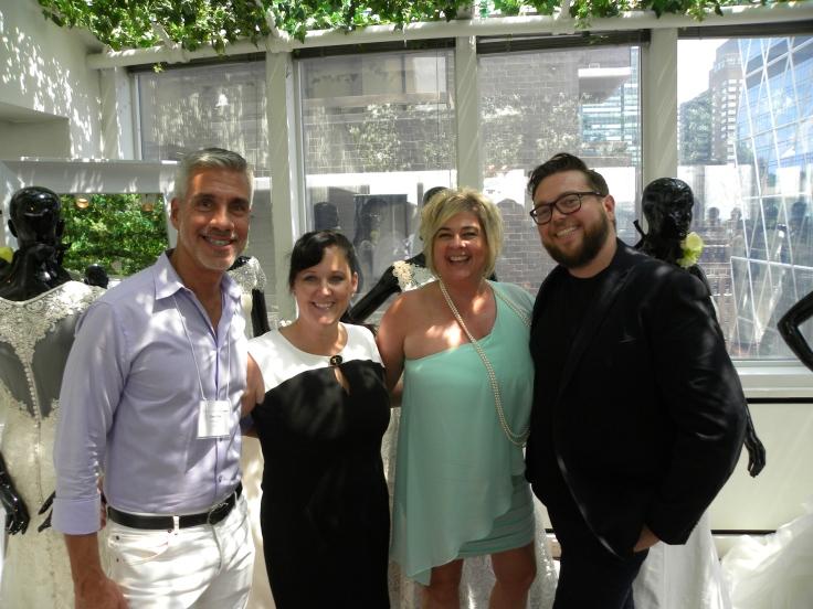 Giggi in NY with designers Justin Alexander Bridal